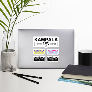 Kampala Uganda Stickers, High-Quality Vinyl Laptop Stickers, Set of 5 Pack