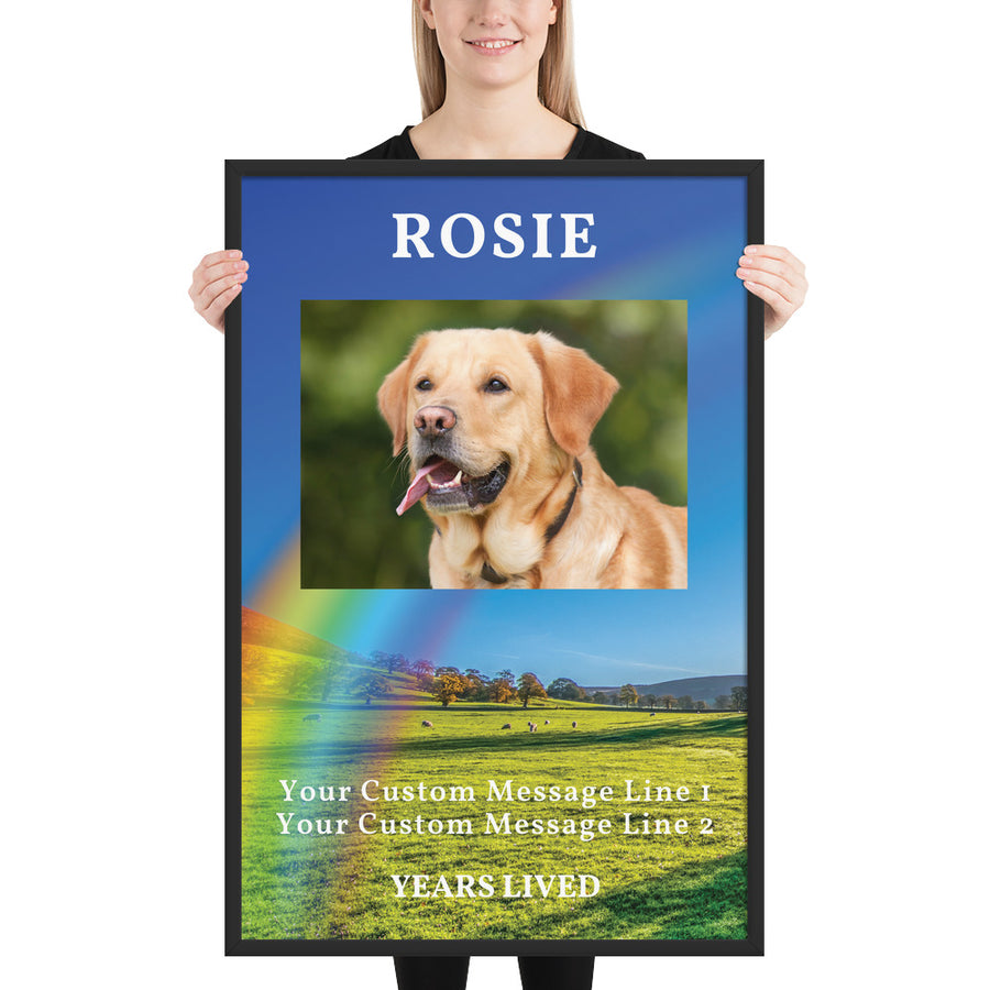 Personalised Dog Memorial Framed Artwork - Extra Large