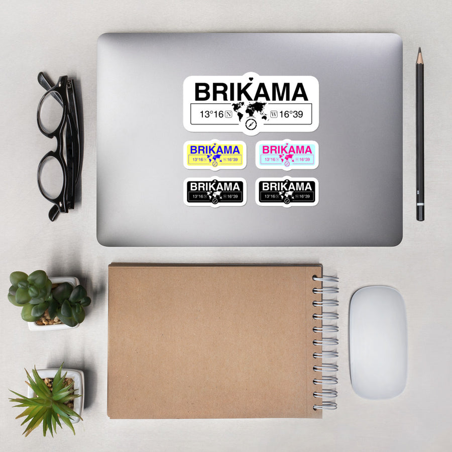 Brikama, Gambia High-Quality Vinyl Laptop Indoor Stickers