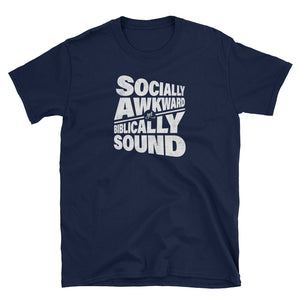 Socially Awkward t-shirt design in Navy