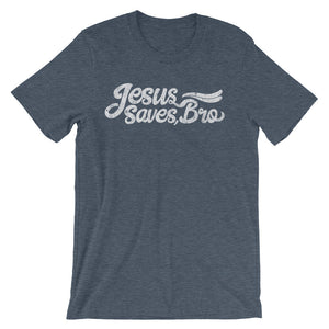 Blue Jesus Saves Bro Tshirt