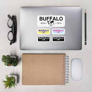 Buffalo, New York Stickers, High-Quality Vinyl Laptop Stickers, Set of 5 Pack