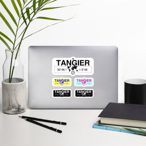 Tangier, Tangier-assilah Stickers, High-Quality Vinyl Laptop Stickers, Set of 5 Pack