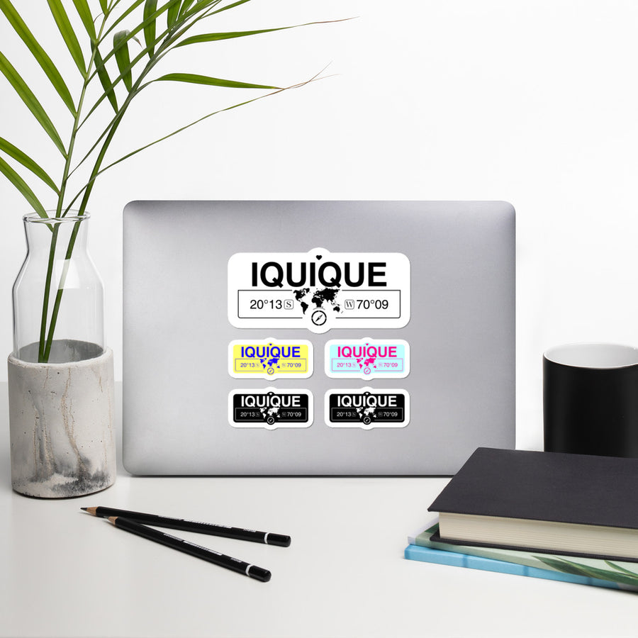 Iquique, Chile High-Quality Vinyl Laptop Indoor Stickers