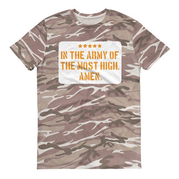 JESUS ARMY Camouflage T-Shirt with white background