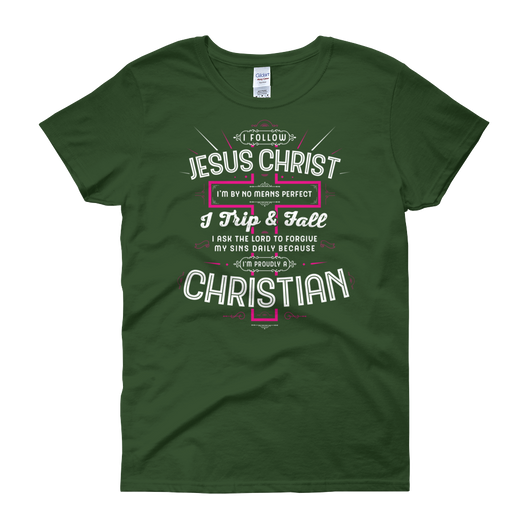 I Follow Jesus Christ - Passion Fury Christian T-shirts and more