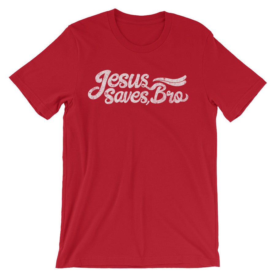 Red Jesus Saves Bro Tshirt