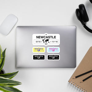 Newcastle, New South Wales Stickers, High-Quality Vinyl Laptop Stickers, Set of 5 Pack