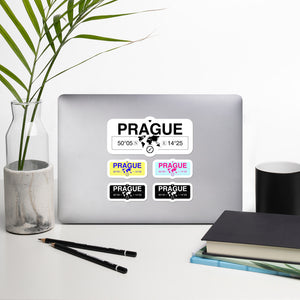 Prague Stickers, High-Quality Vinyl Laptop Stickers, Set of 5 Pack