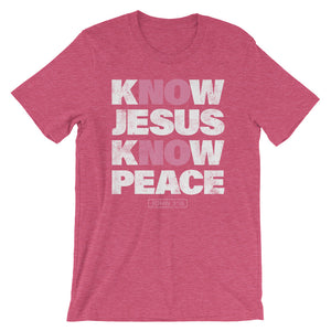 No Jesus No Peace T-Shirt in heather