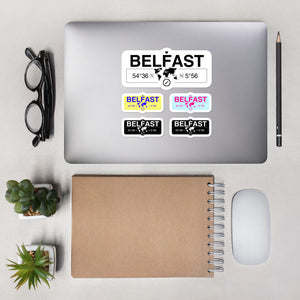 Belfast, Northern Ireland Stickers, High-Quality Vinyl Laptop Stickers, Set of 5 Pack