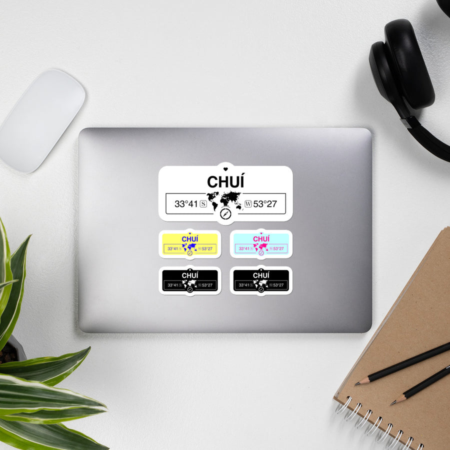 Chuí, Brazil High-Quality Vinyl Laptop Indoor Stickers