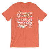 Psalm 139:14 Fearfully Made - Passion Fury Christian T-shirts and more