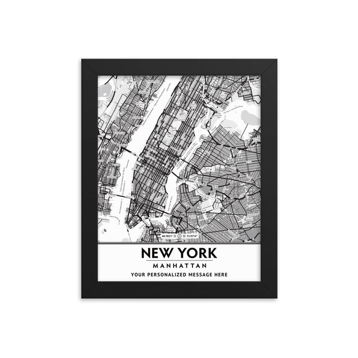 Customizable New York City Manhattan Framed Artwork