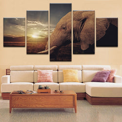 Elephant Wall Art Wall Art 5-Piece image