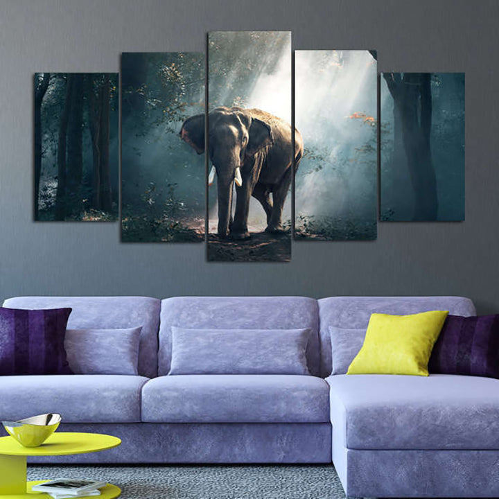 Elephant Painting Canvas Set - Limited Time Offer (Up to 50% Off)