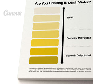 Home or office urine chart on canvas print