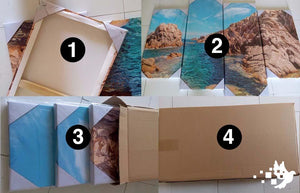 Canvas wall art packaging image