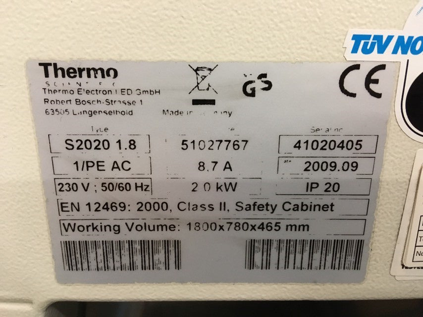 Thermo Safe 2020 Class II Safety Cabinet