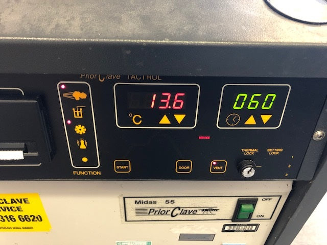 Priorclave Midas 55 Top Loading Autoclave