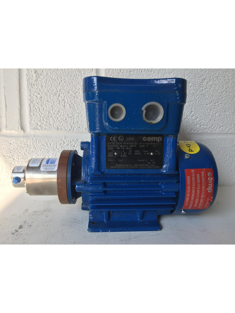 Cemp Motor with Micropump A‑Mount Cavity‑Style Pump Head (1974876) - Richmond Scientific