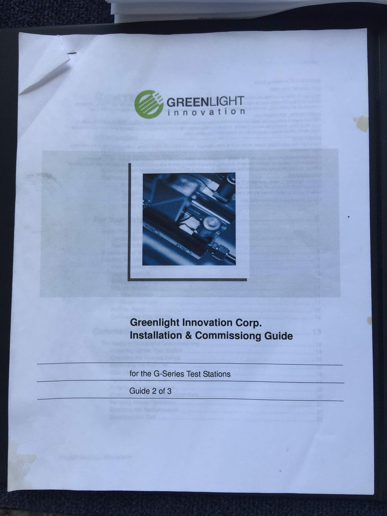 Greenlight Innovation Corp. Installation & Commissiong Guide