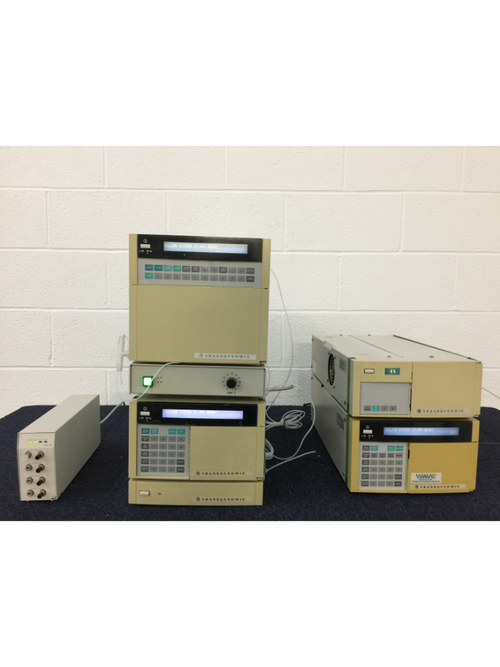 Hitachi Transgenomic HPLC System - Autosampler, Pump, Column Oven, UV Detector, Channel Degasser - Richmond Scientific