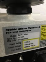 Stable Micro Systems TA-XT plus Texture Analyser - Richmond Scientific