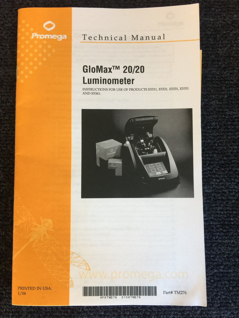 Promega Glomax 20/20 Luminometer - Richmond Scientific