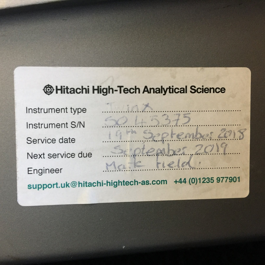 Hitachi High-Tech Analytical Science Service Information