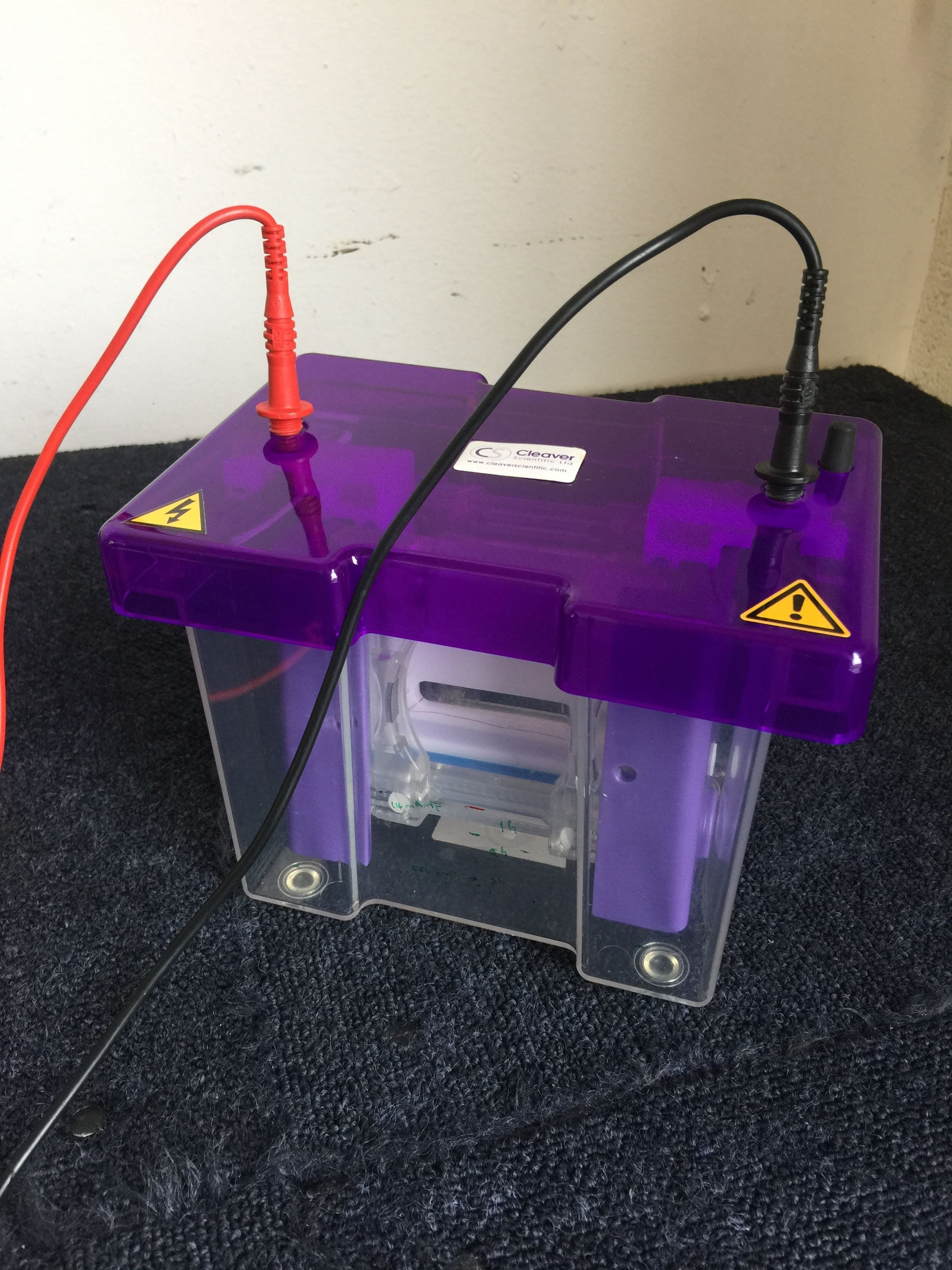 Fisherbrand Gel Unit with Cleaver Scientific Mini Vertical Protein Electrophoresis System and Thermo EC250-90 Power Supply