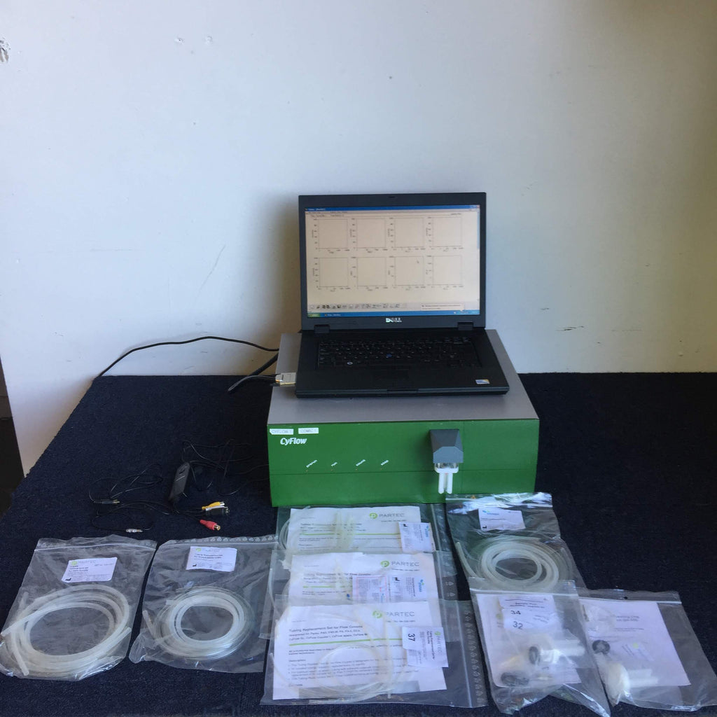 Partec Cyflow Flow Cytometer with Laptop & Accessories