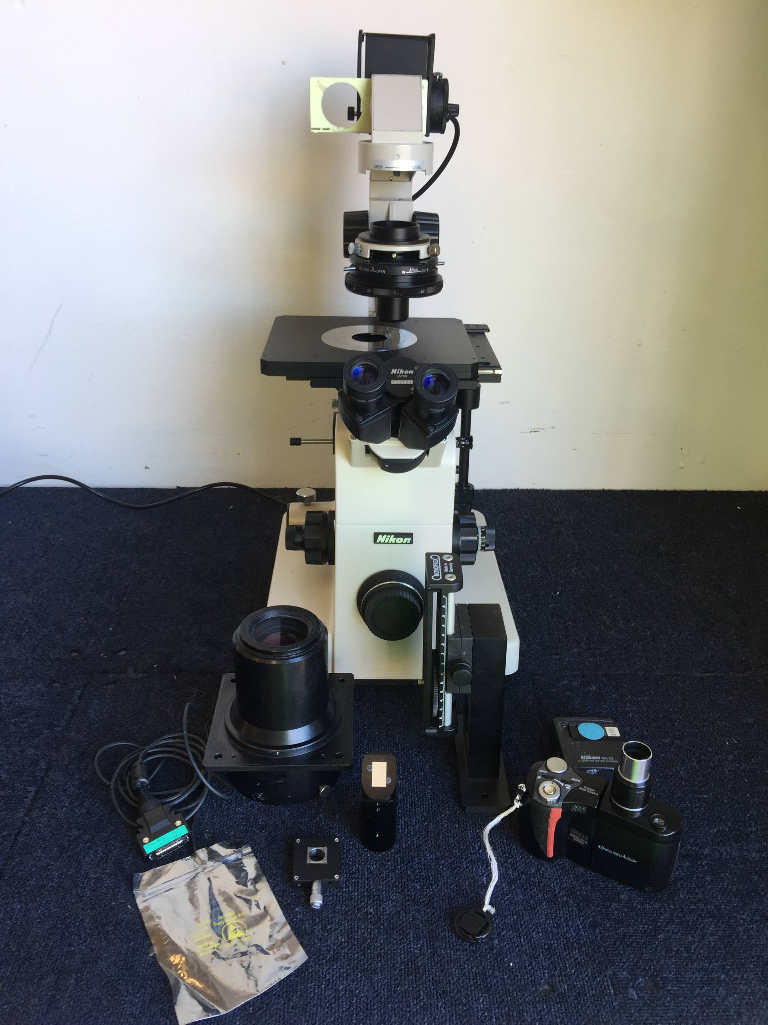 Nikon Diaphot Microscope with Accessories