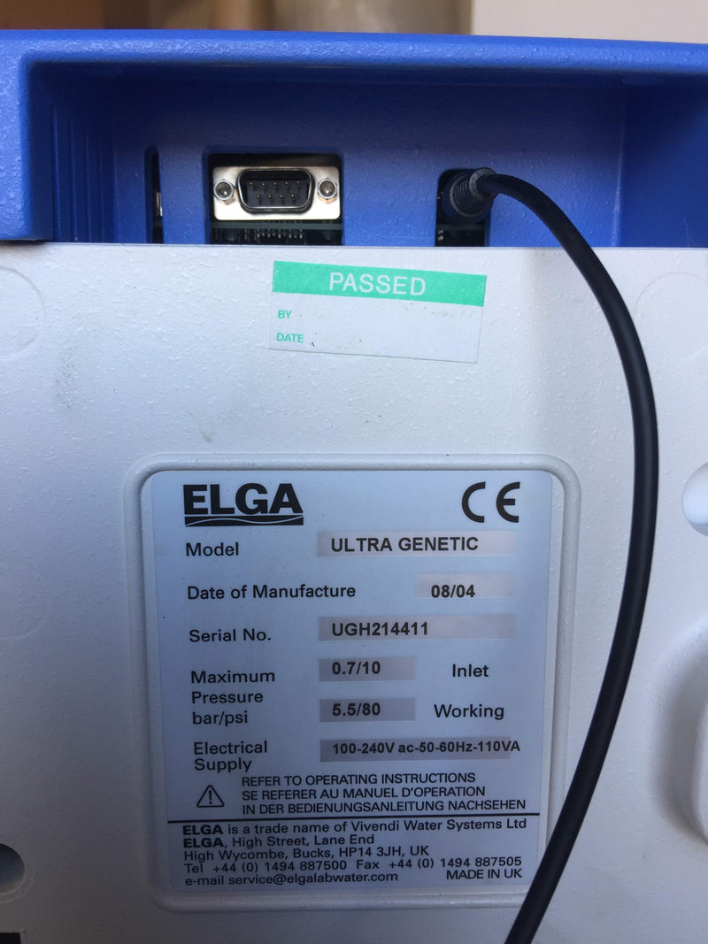Elga Ultra Genetic Water Purification