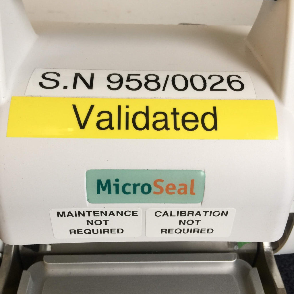 Serial Number, Validated, MicroSeal