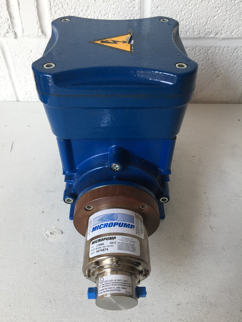 Cemp Motor with Micropump A‑Mount Cavity‑Style Pump Head (1974874) - Richmond Scientific