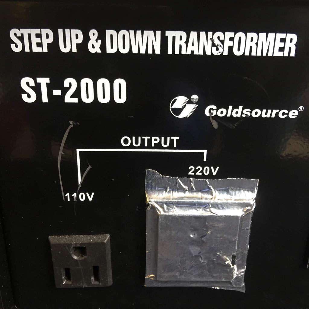 Step Up & Down Transformer ST-2000 Goldsource, Output Ports