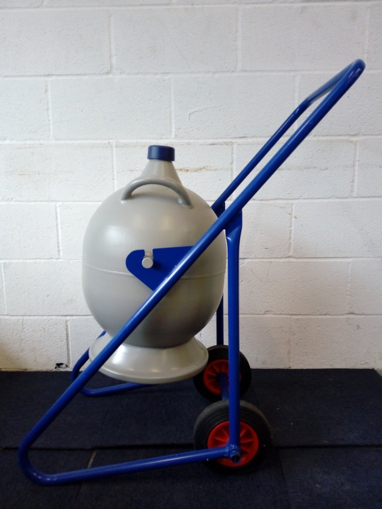 Cryolab 25 Liquid Nitrogen Vessel With Transport Trolley