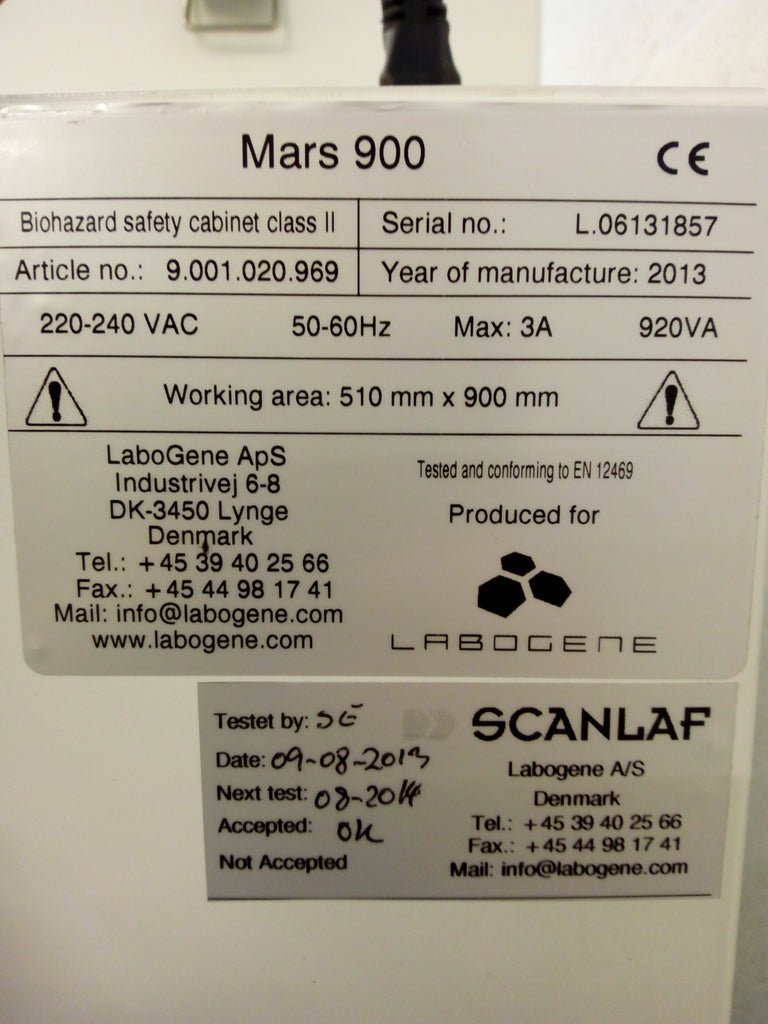 Mars 900 Class 2 Safety Cabinet