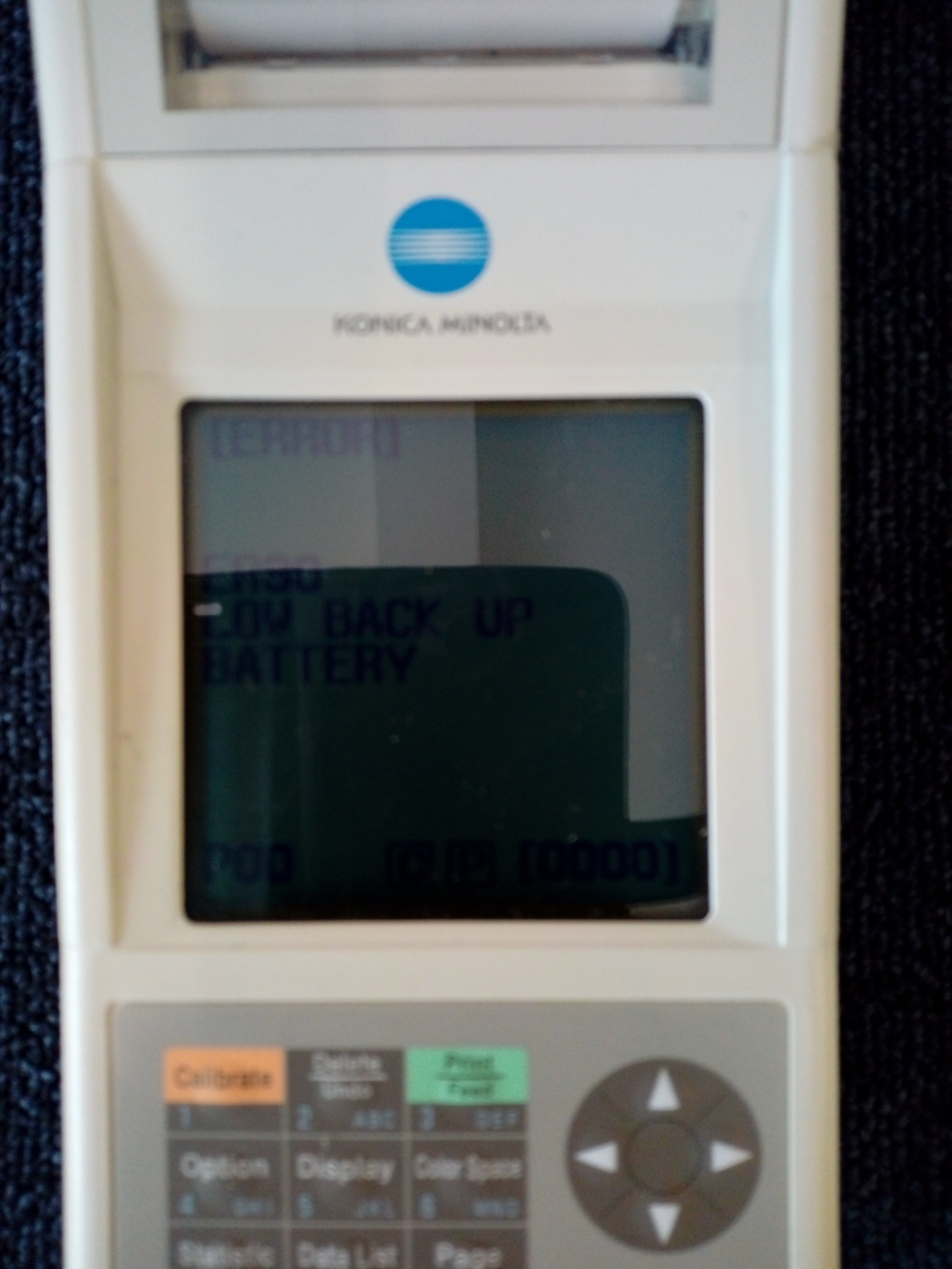 Konica Data Processor DP-400 with Chroma Meter CR-400 with Calibration Plate