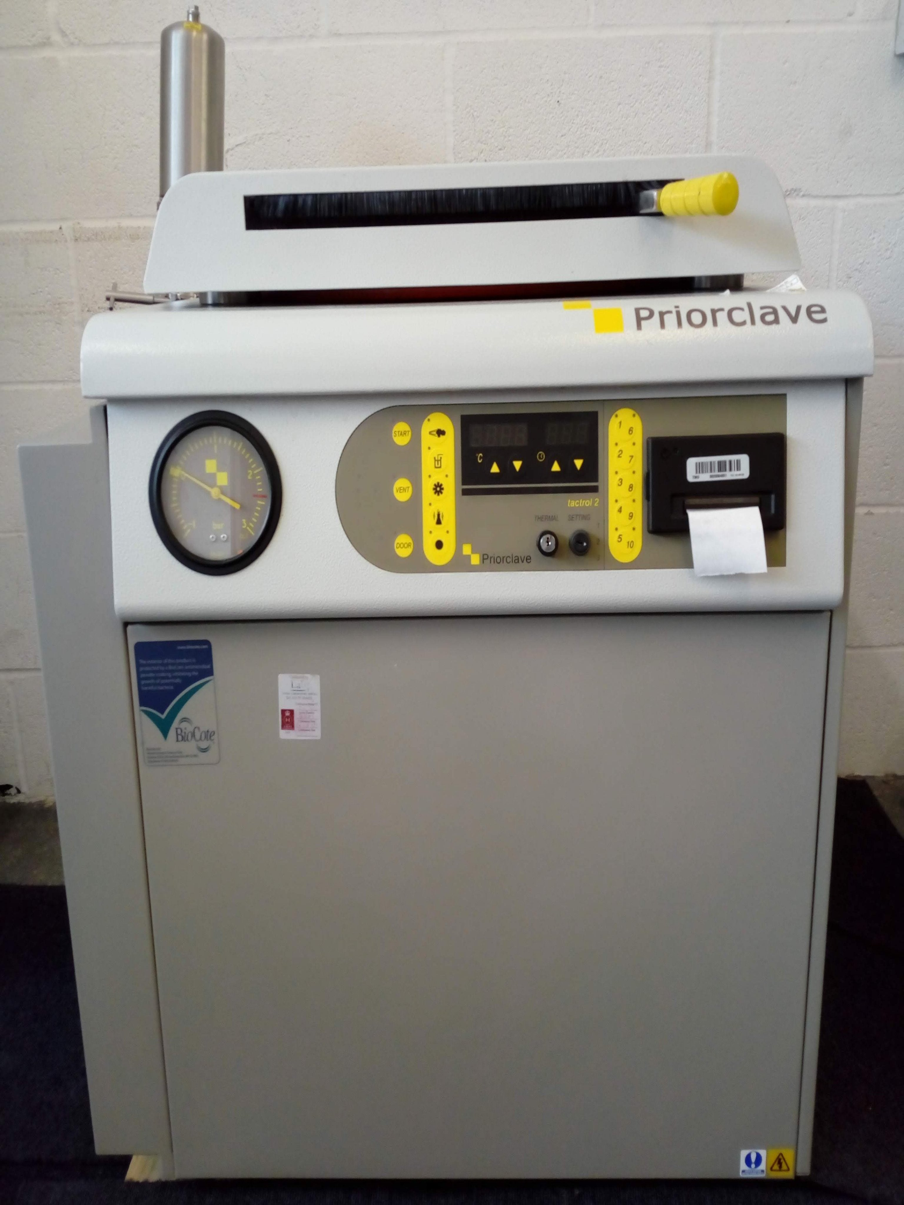Priorclave 100L Top Loading Autoclave
