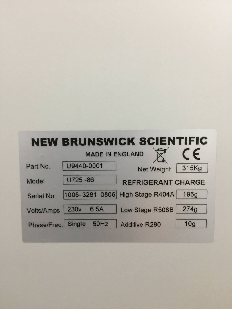 New Brunswick Scientific U725 Ultra Low Freezer