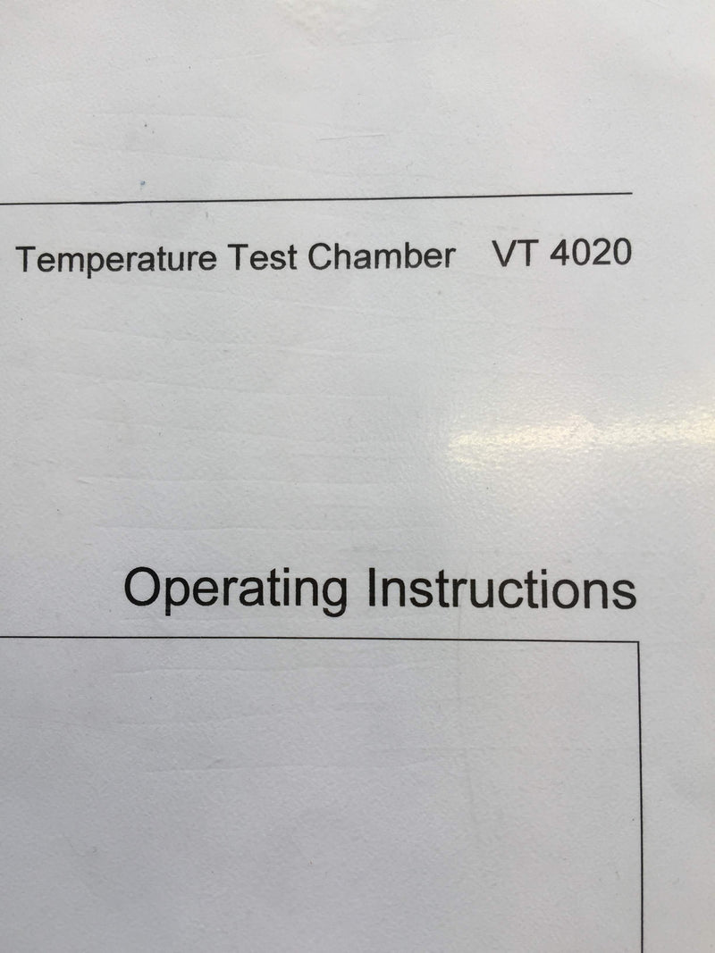 Heraeus Vötsch VT 4020 Temperature Test Chamber