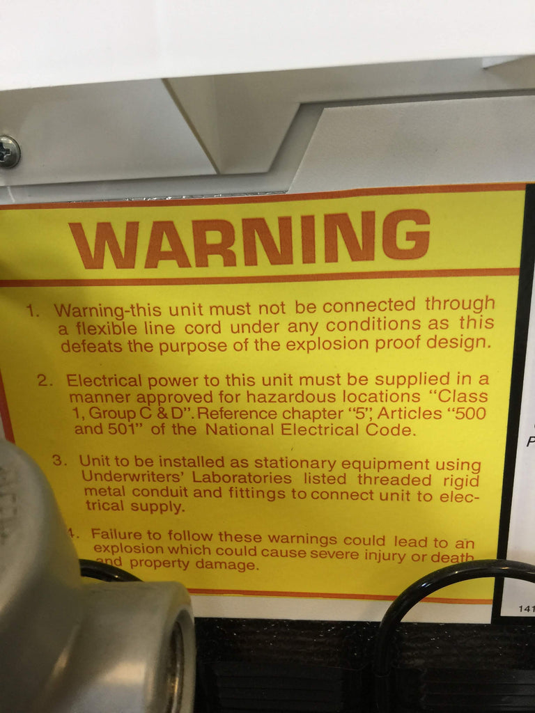 Product Safety Warning Sticker