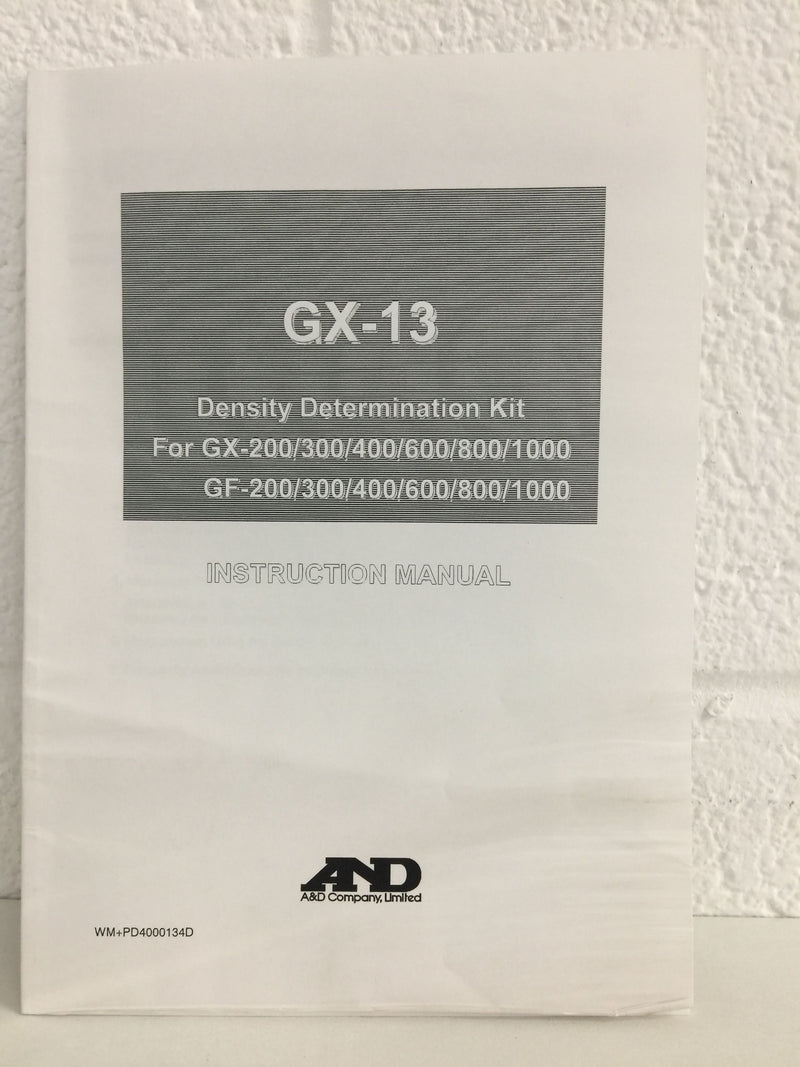 A&D Weighing GX-13 Density Determination Kit for GF/GX Balances - Richmond Scientific
