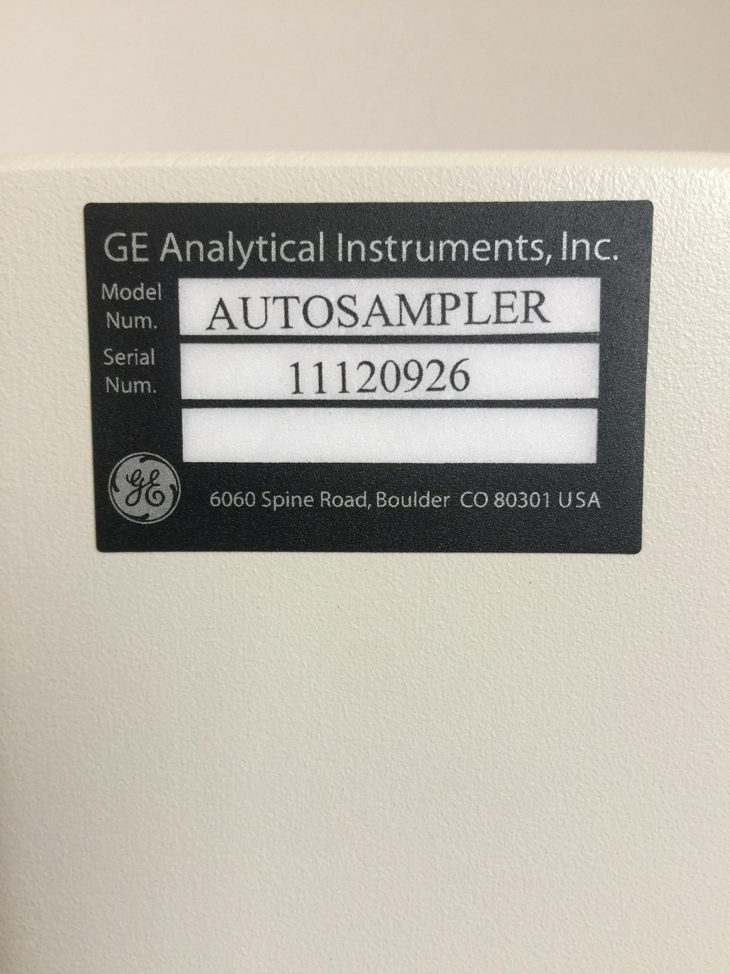 GE Analytical Instruments Autosampler