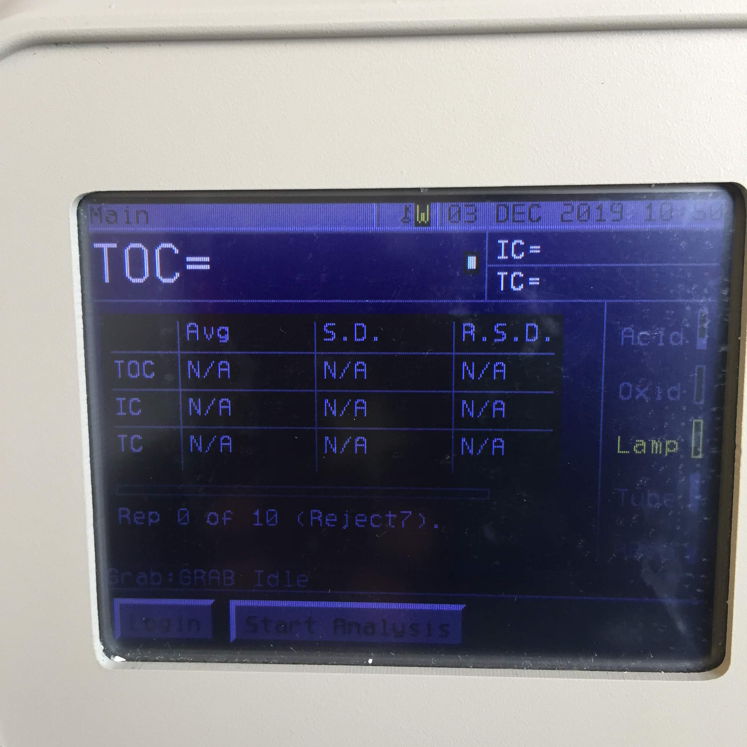 GE Healthcare Sievers 900 Lab TOC Analyzer