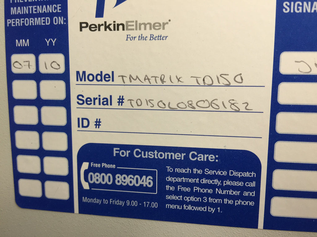 Perkin Elmer Turbo Matrix 150 Thermal Desorber