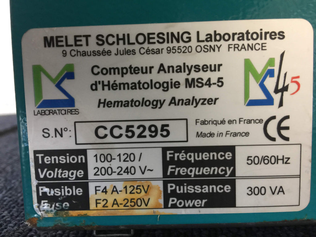 Melet Schloesing Hematology Analyzer
