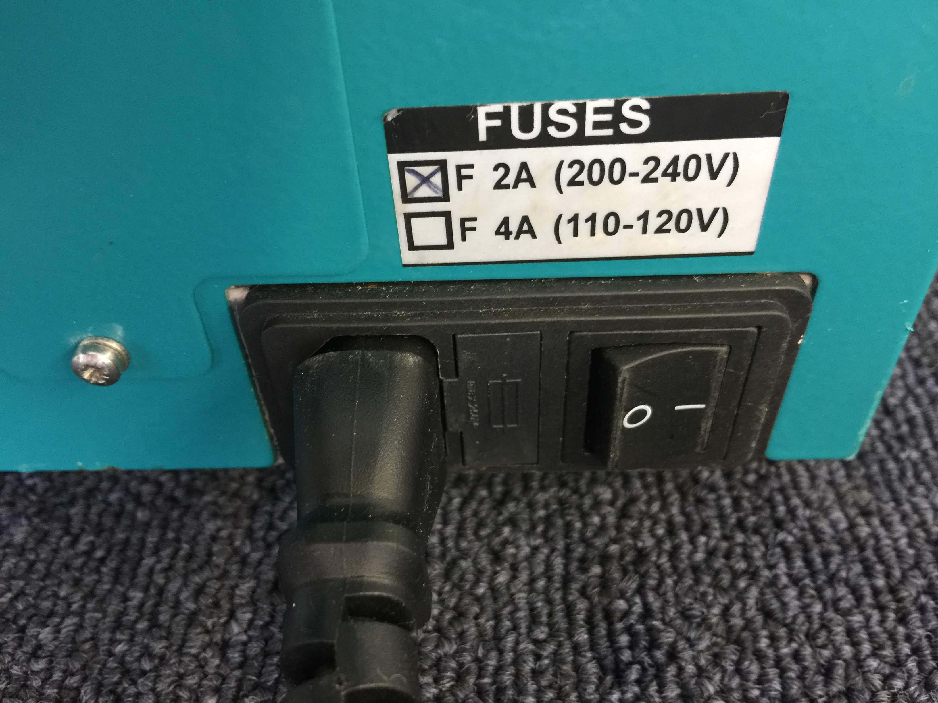Power On/Off Switch, Power Cable